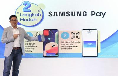 APLIKASI Samsung Pay, Transaksi Mudah DANA dan GoPay Swipe Up & Pay