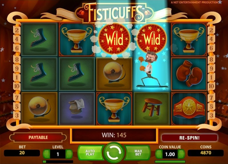 Fisticuffs Video Slot Screen