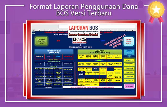 Format Laporan Penggunaan Dana BOS Versi Terbaru