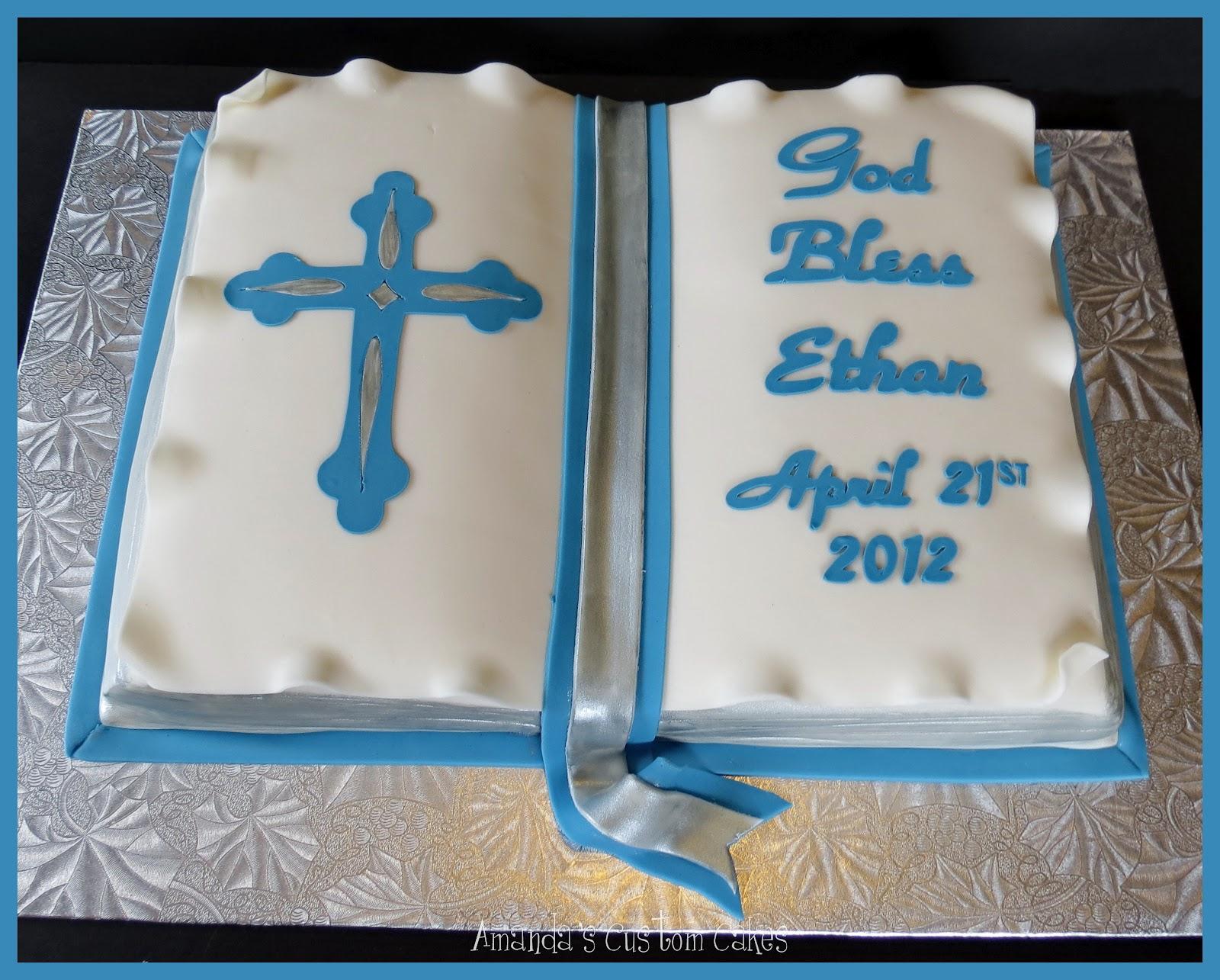 Amanda S Custom Cakes Baptism Cake
