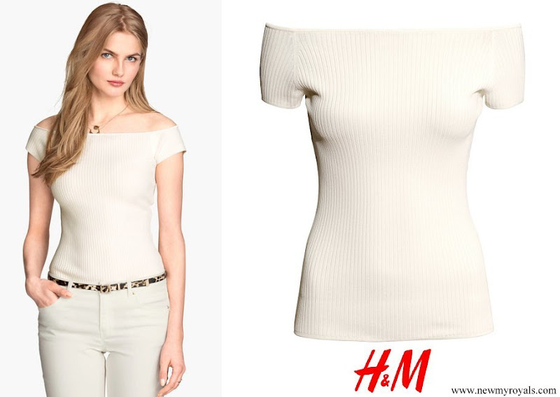 Kate Middleton wore H&M off-the-shoulder rib knit top