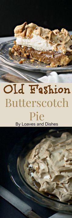 Old Fashion Butterscotch Pie