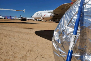 'Wheel whackers' keep snakes out of planes in California desert
