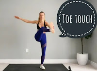 Toe touch single-arm crunches