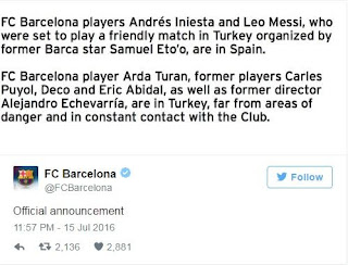 Tweets from Barcelona