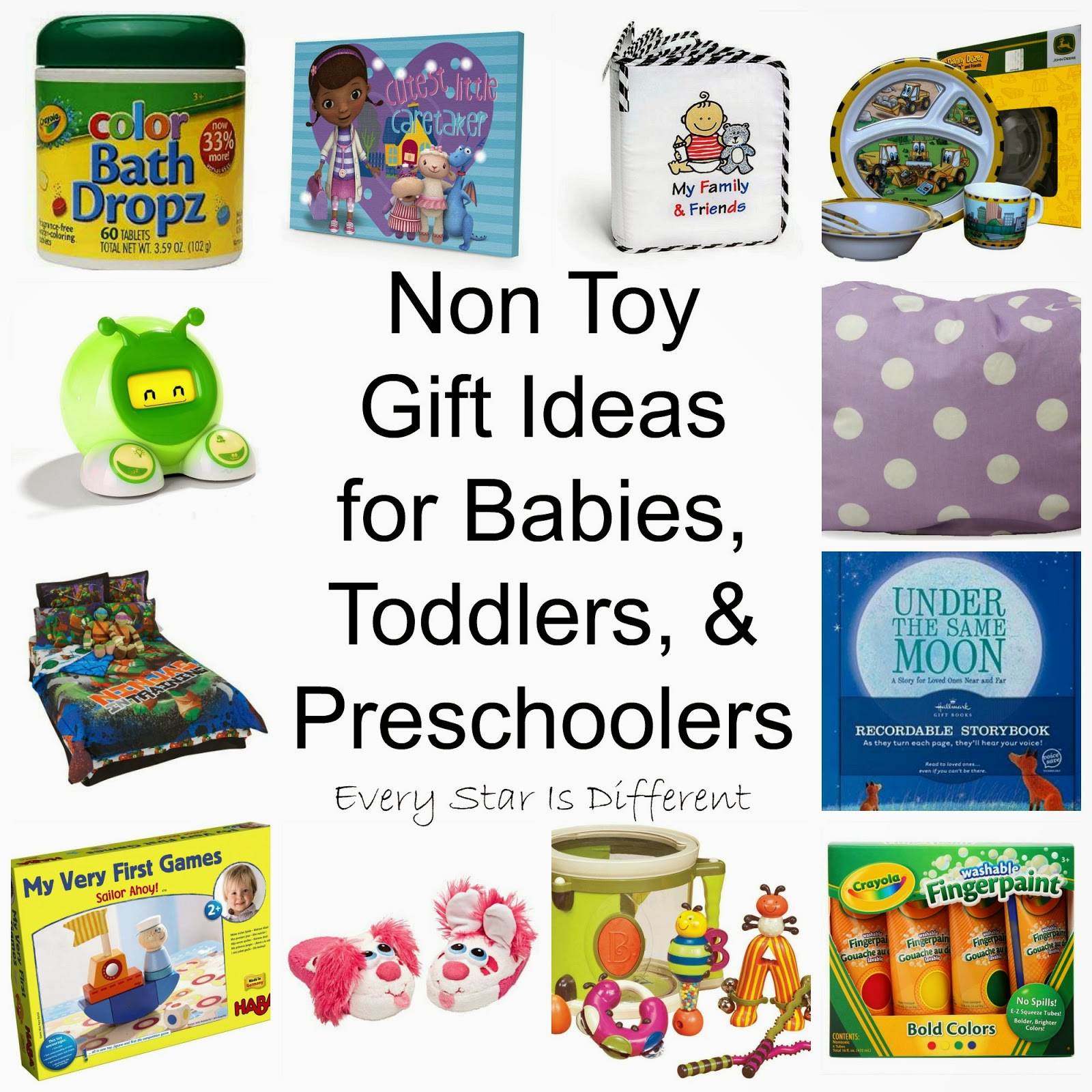 Presents Toys Christmas : Non toy gift ideas for babies toddlers preschoolers