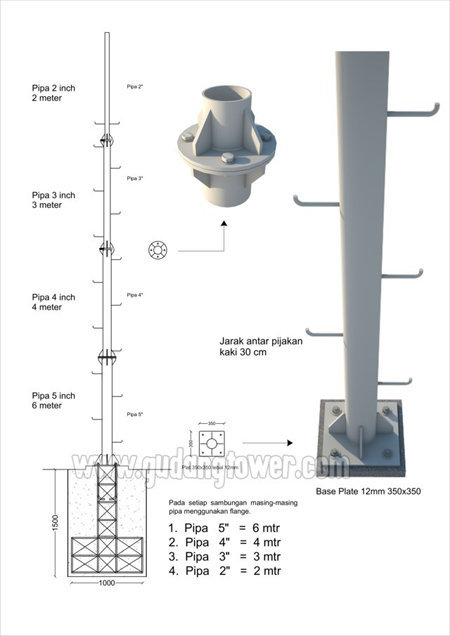 Tower Monopole 15 meter