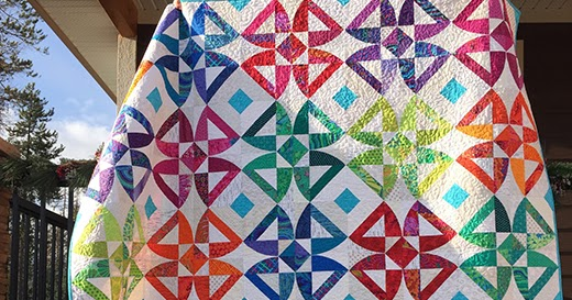 Quilting Land: Twisted Blossom Quilt