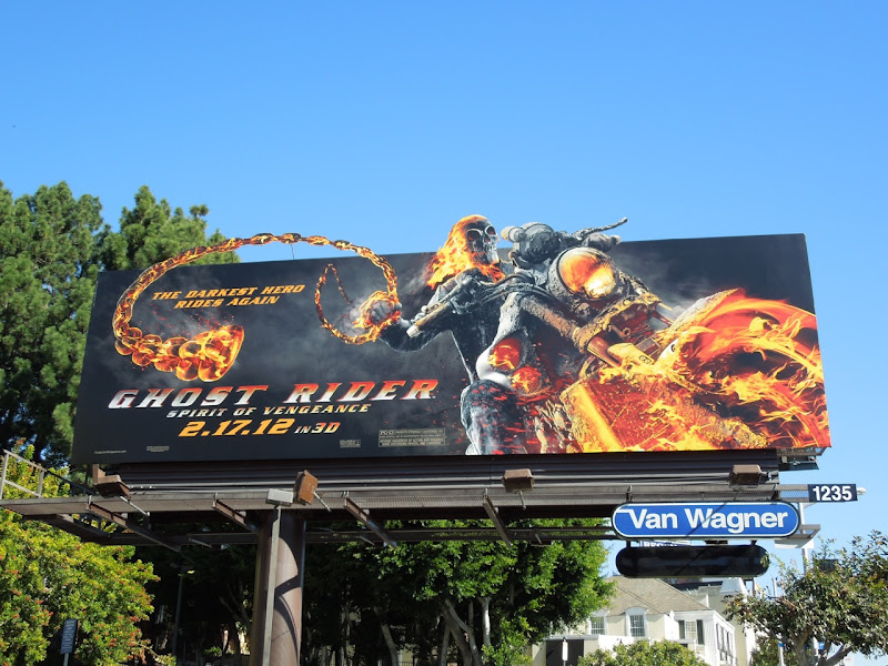 Ghost Rider 2 movie billboard ad