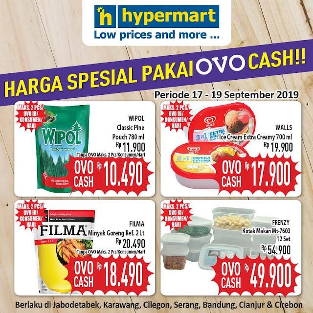 #Hypermart - #PromoHarga Produk Spesial Beli Pakai OVO Cash (s.d 19 Sept 2019)