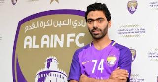 حسين الشحات يقدم أداء جيد في مباراة العين والاهلي في الدوري وكوبر يشيد به !