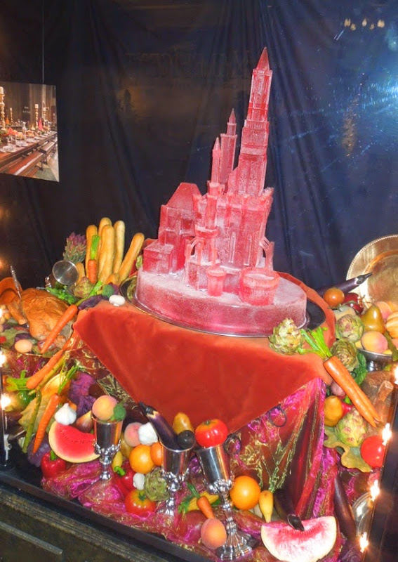 Maleficent banquet castle ice sculpture prop