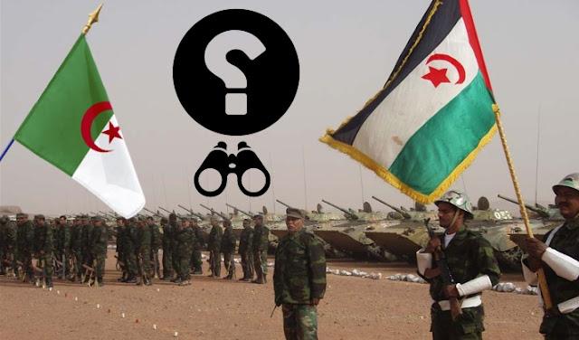 جنود البوليساريو جبهة البوليزاريو والدعم الجزائري