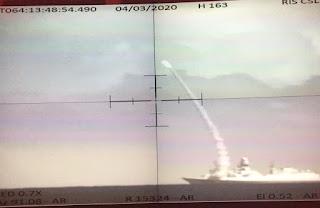 Penembakan Rudal ASTER 30 dari Fregat FREMM