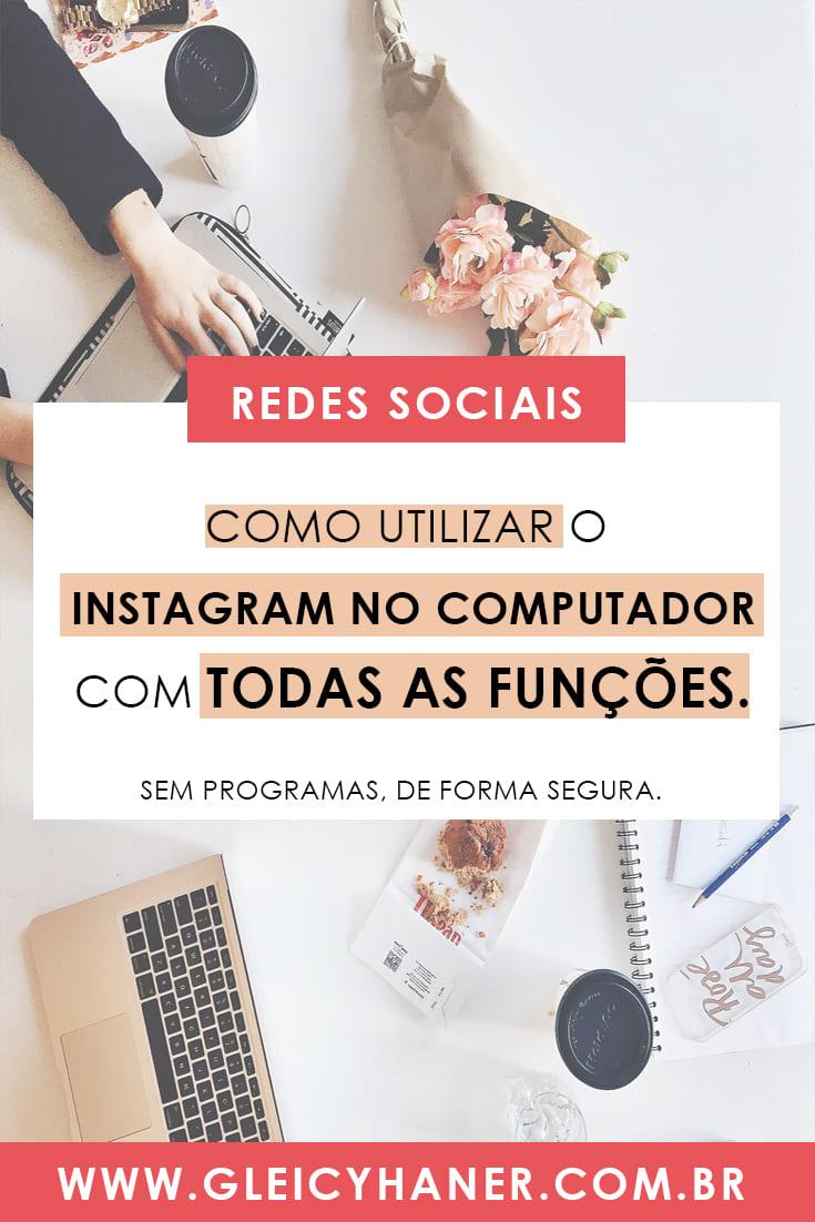 como postar foto no instagram pelo pc