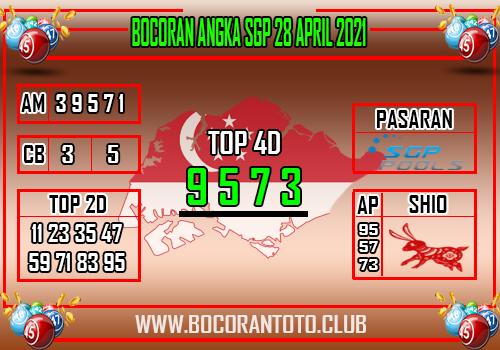 Bocoran SGP 28 April 2021