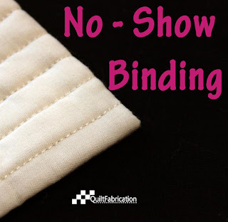 white quilt with no binding showing