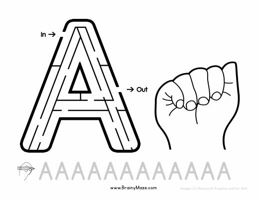 Reciclando con Erika : Hojas de ejercicio con el Alfabeto en ASL ...