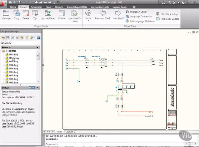 แนะนำวิธีการเขียนแบบในโปรแกรมautocad Electrical 2010