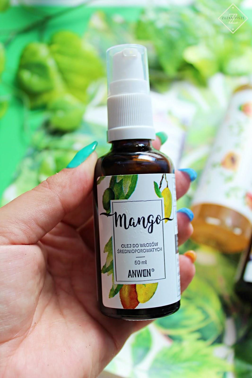 ANWEN Olej Mango do włosów średnioporowatych