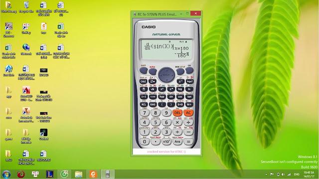 Download phần mềm giả lập máy tính Casio FX-570VN Plus và Vinacal 570ES Plus II