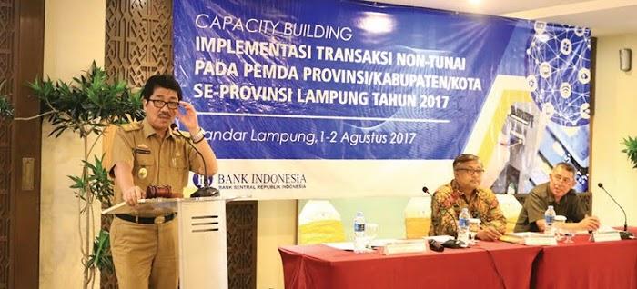 Pemprov Lampung Berupaya Implementasikan Transaksi Non Tunai di Tahun 2018
