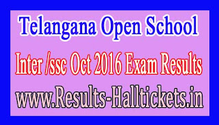 Telangana Open School Inter /ssc Oct 2016 Exam Results