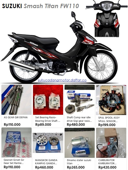 Daftar Harga Suku Cadang Suzuki Smash Titan