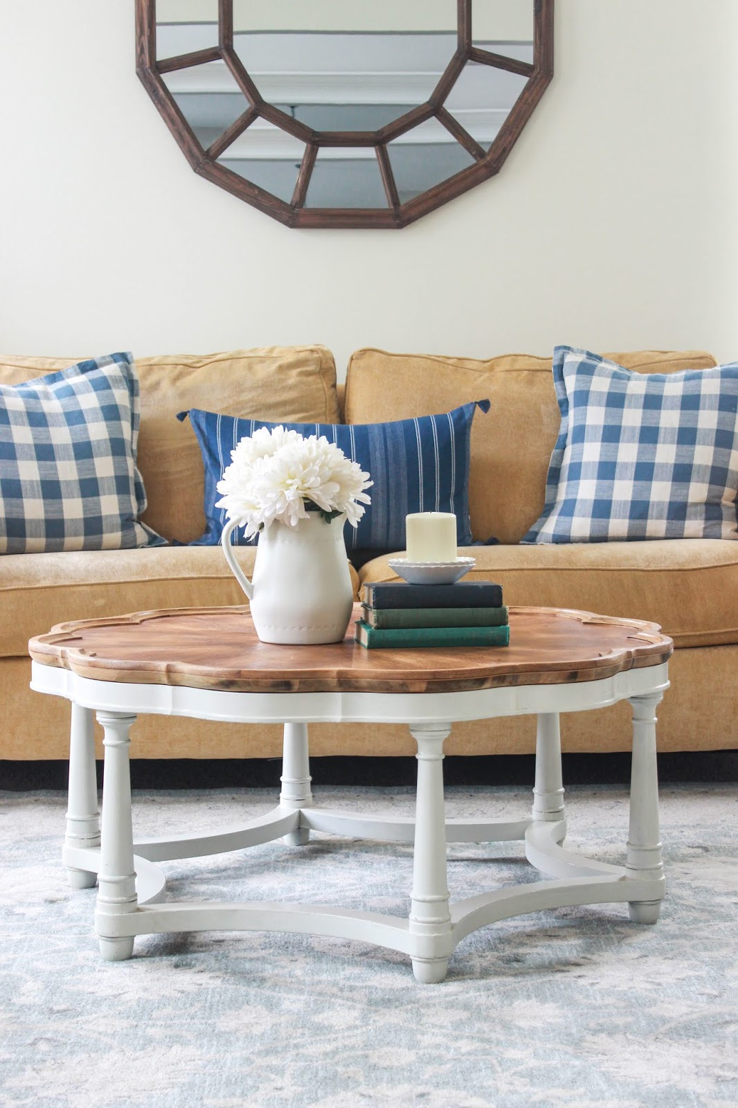 scalloped coffee table living rooms
