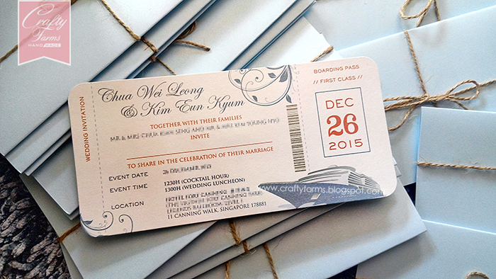 Wedding Card Malaysia Crafty Farms Handmade Nautical Cruise