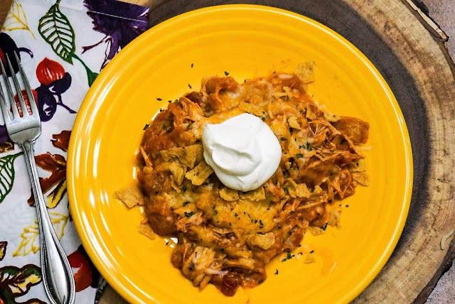 Bean Pot Chicken Enchiladas