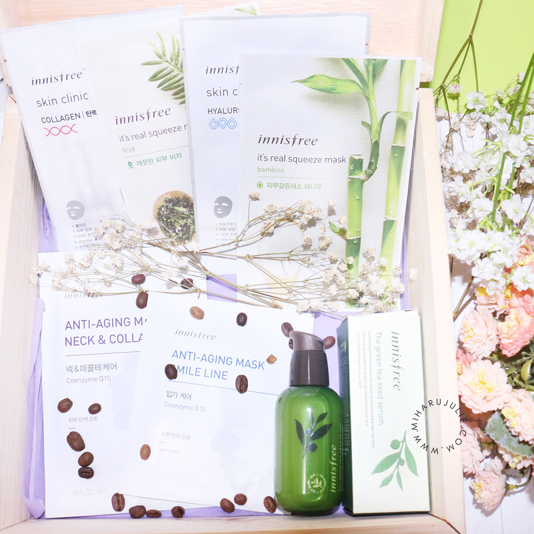Innisfree Indonesia Greentea Seed Serum Review Mask Its Real Squeeze Masker Wajah Sheet
