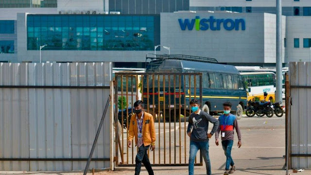 In Bangalore, Taiwan's iPhone maker Ran Wistron Infocom has a dispute, violent incident demanding salary, 100 people arrested
