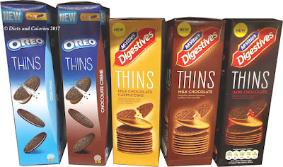 McVities Thins biscuit range Oreo Chocolate Cappuccino