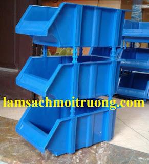 Khay đựng linh kiện, khay nhựa xếp tầng, khay nhựa vát giá rẻ