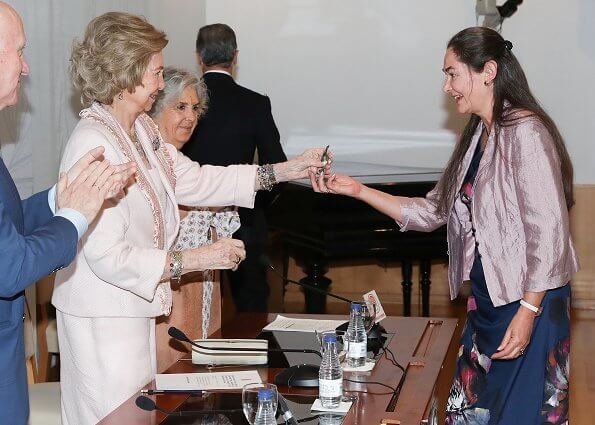 Former Queen Sofia of Spain attended the 'Inigo Alvarez de Toledo' awards ceremony held at the Residencia de Estudiantes