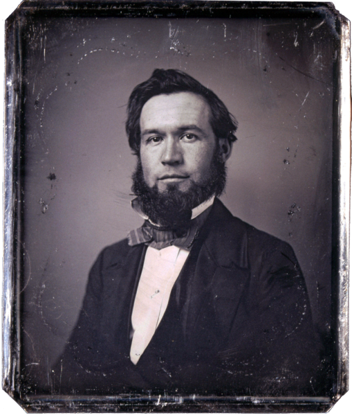 Daguerreotype portrait of Enoch Long, circa 1855, Thomas Easterly. Source: Missouri Historical Society