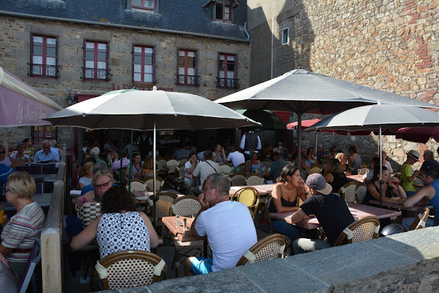 Mont Saint-Michel city full terrace