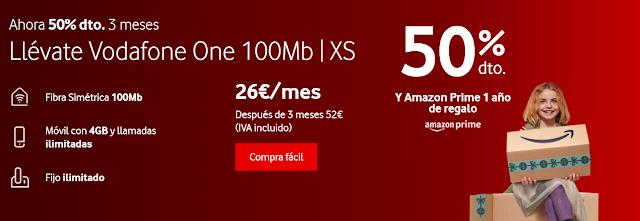 Vodafone 50% descuento tres meses