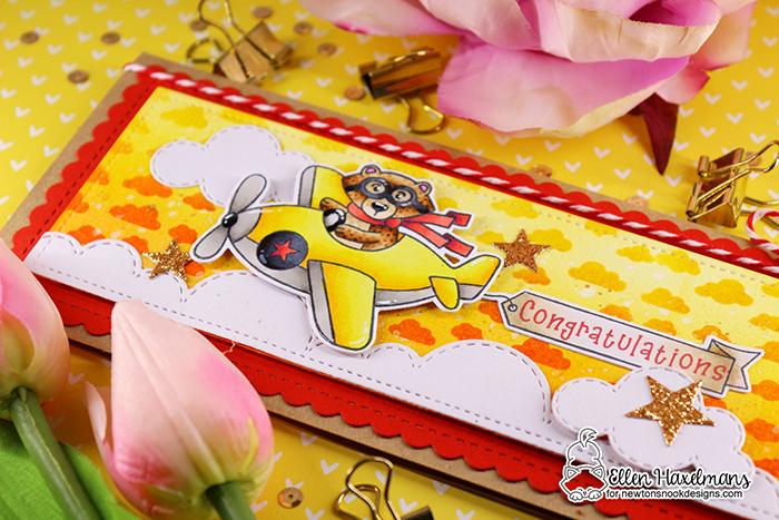#winstontakesflight #newtonsnook #newtonsnookdesigns #handmadecard #cardmaking #stamping #hellocard #friendshipcard #nnd #card #cardmaking #handmade #stampset #dieset #paperart #hobby #drawing #copicmarkers #copicciao #copiccoloring #newtoncleansupstampset #slimlinecard #babydiyseries