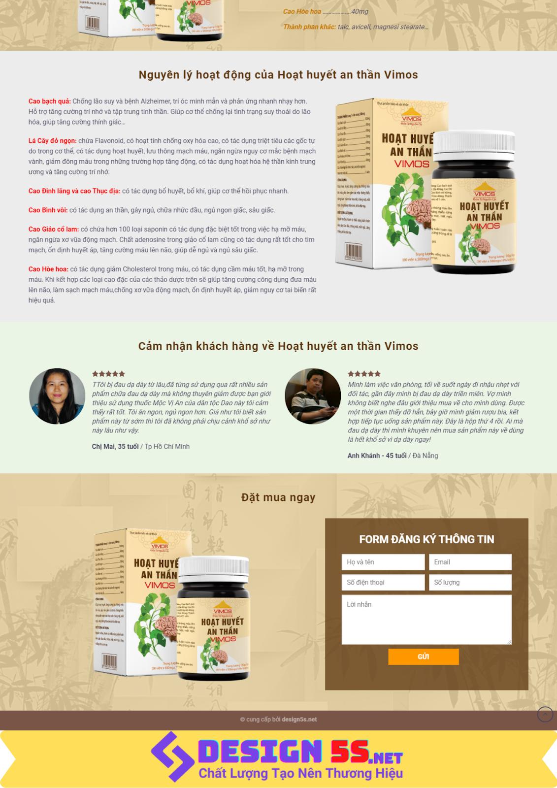 Mẫu website bán thực phẩm chức năng , thuốc uống  - Ảnh 2