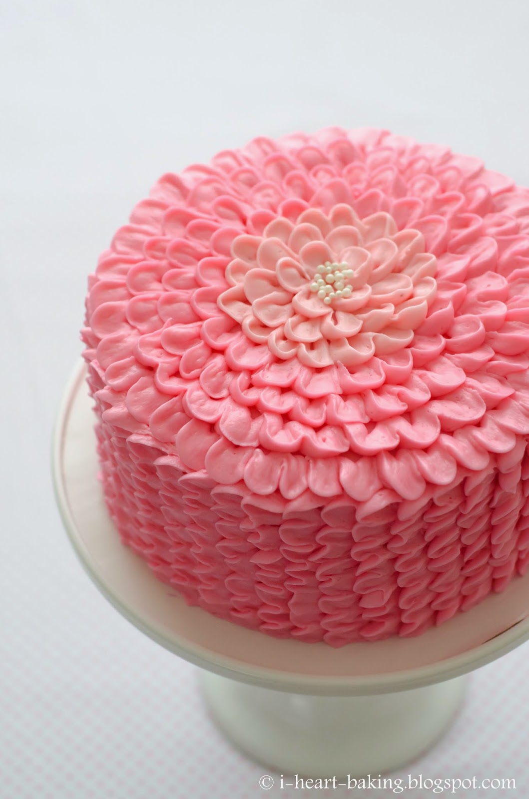 I heart baking pink ruffle flower chocolate mousse layer cake i heart baking pink ruffle flower chocolate mousse layer cake for mightylinksfo