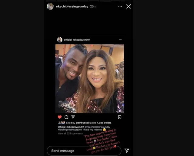 Check Out Actress Nkechi Blessing's Reaction After Her Ex Apologized Openly On Instagram