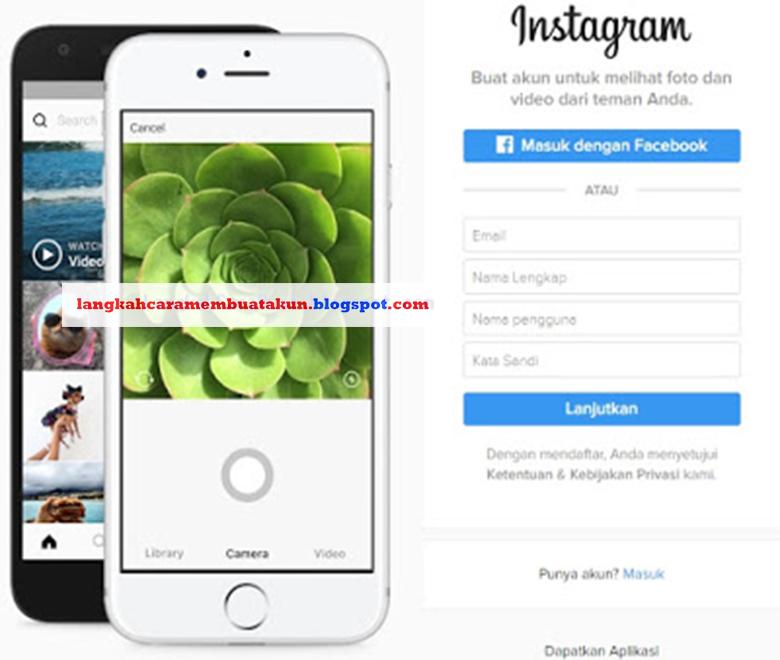 Buat Akun Instagram Lewat Google | Daftar Instagram di