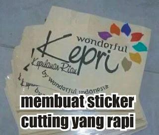 membuat cutting sticker yang rapi