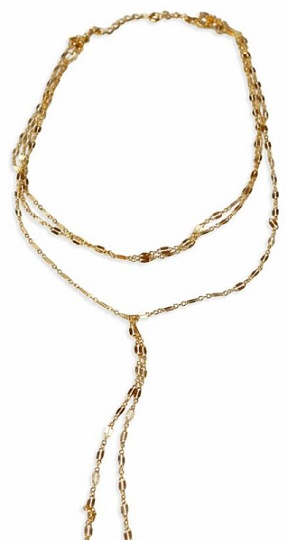 Glamrocks Jewelry's Chain Wrap Choker in gold