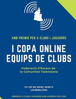 URGENTES, 13 y 20 marzo. La FACV organiza una Copa Online por equipos