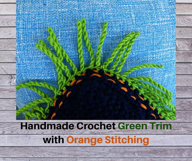 Handmade crochet Green Trim
