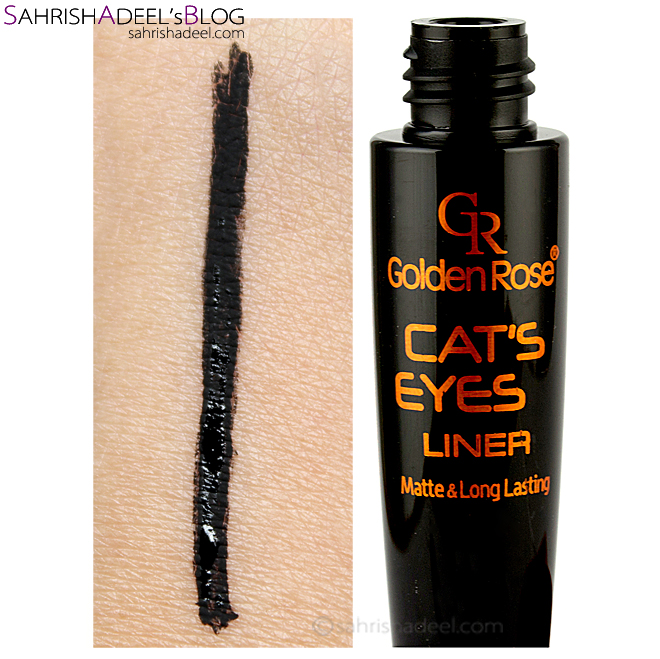 Cat's Eyes Liner by Golden Rose Cosmetics - Review & Swatch
