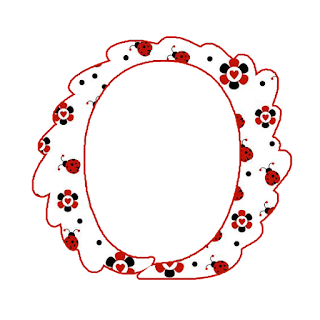 Alfabeto con Flores y Mariquitas.